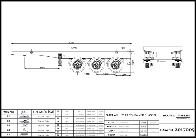 20 Ft Container Chassis with ADR - ALURA TRAILER