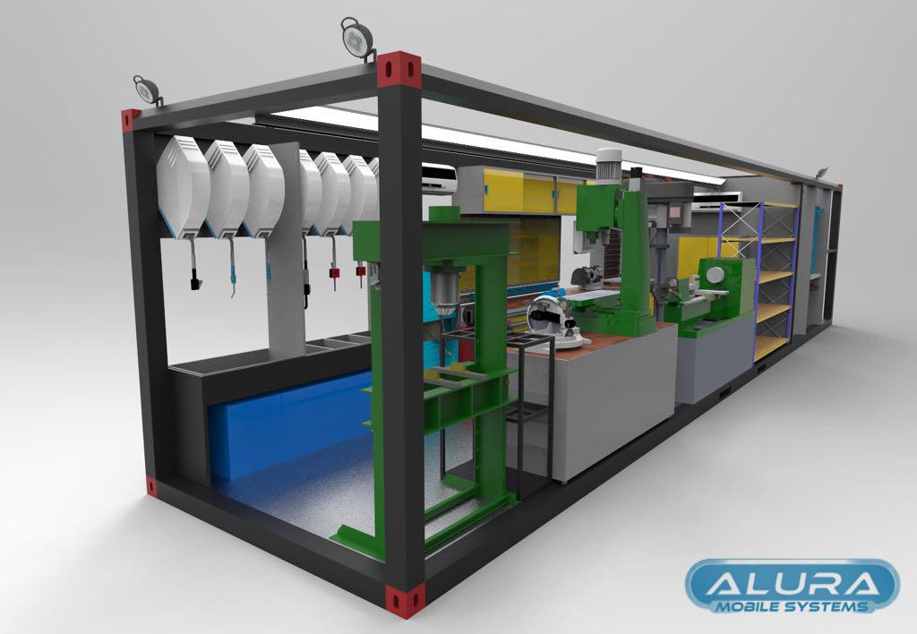 Hose Crimping Tool >> Mobile Workshop Truck Body - Container Workshops - ALURA TRAILER